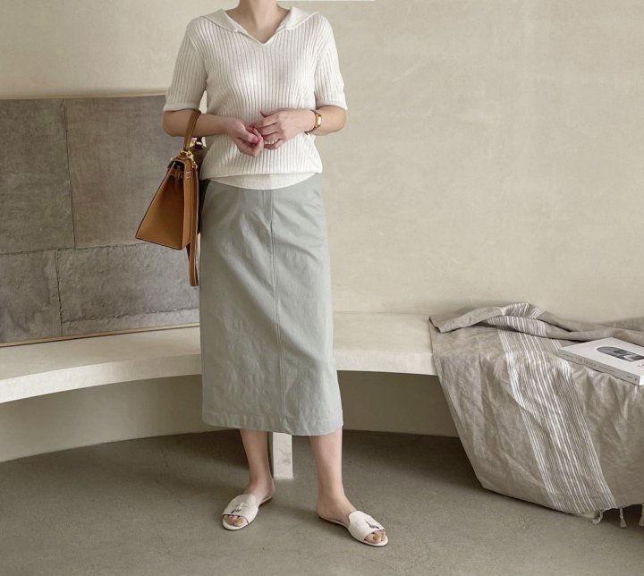 AFTERGLOW - Korean Women Fashion - #Kfashion - Diagonal Straight Skirt - 7