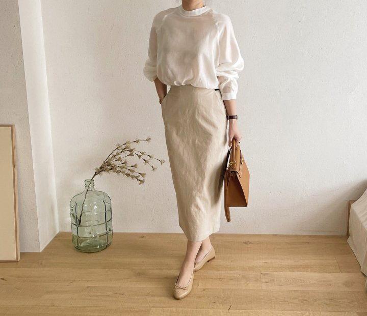 AFTERGLOW - Korean Women Fashion - #Kfashion - Cotton Half Banding Skirt