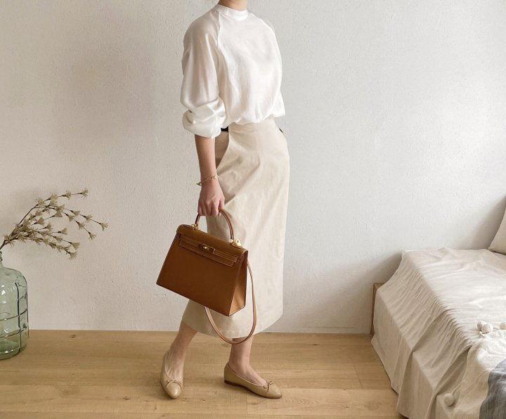 AFTERGLOW - Korean Women Fashion - #Kfashion - Cotton Half Banding Skirt - 2