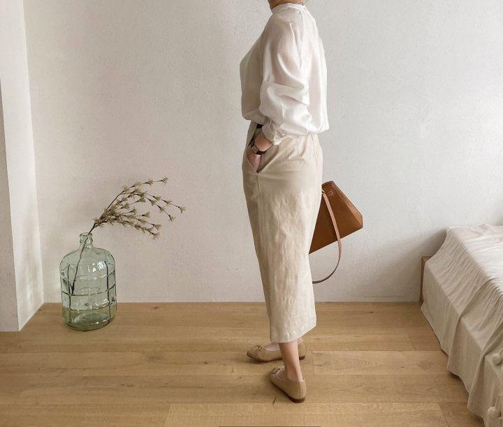 AFTERGLOW - Korean Women Fashion - #Kfashion - Cotton Half Banding Skirt - 3