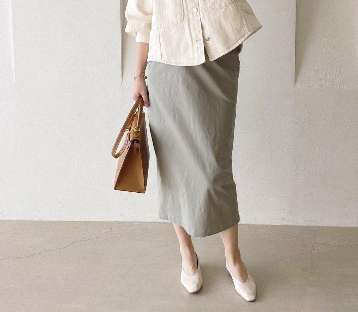 AFTERGLOW - Korean Women Fashion - #Kfashion - Cotton Half Banding Skirt - 4