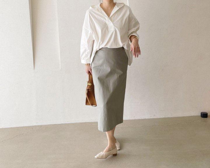 AFTERGLOW - Korean Women Fashion - #Kfashion - Cotton Half Banding Skirt - 5