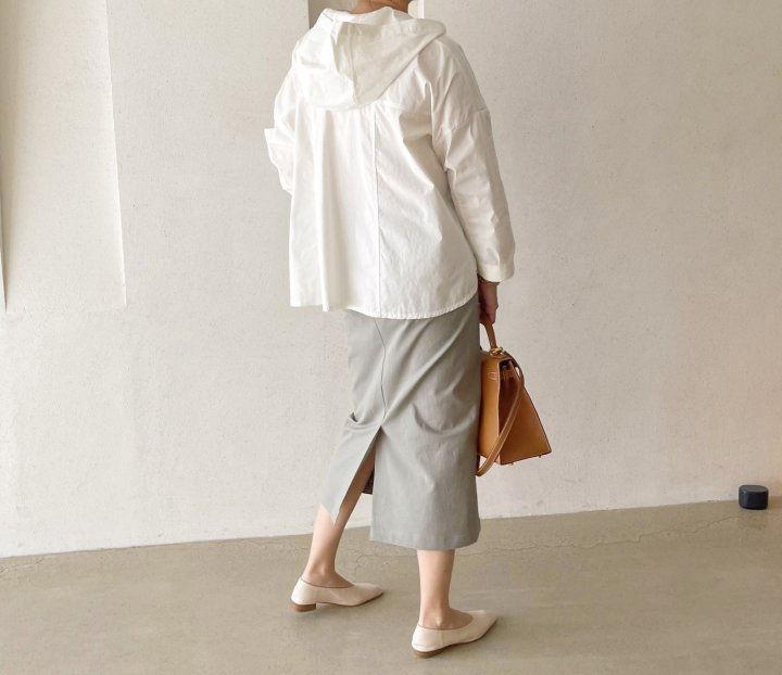 AFTERGLOW - Korean Women Fashion - #Kfashion - Cotton Half Banding Skirt - 6