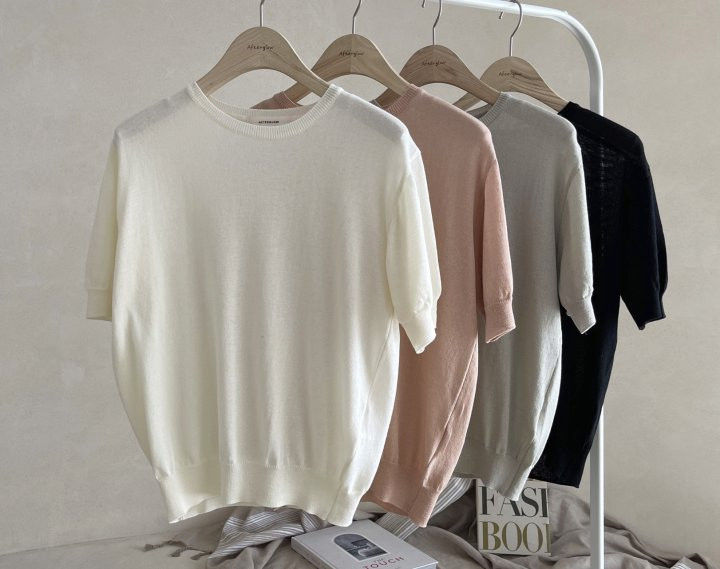 AFTERGLOW - Korean Women Fashion - #Kfashion - Simple Round Knit Pullover - 2