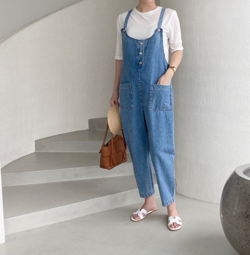 AFTERGLOW - Korean Women Fashion - #Kfashion - Roy Denim Overalls