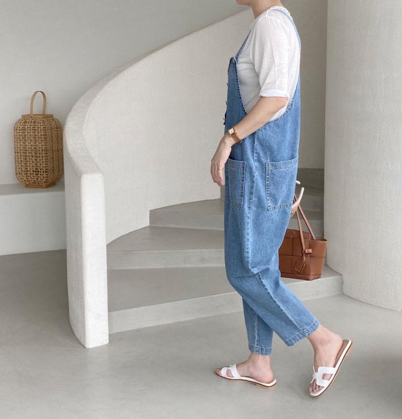 AFTERGLOW - Korean Women Fashion - #Kfashion - Roy Denim Overalls - 2