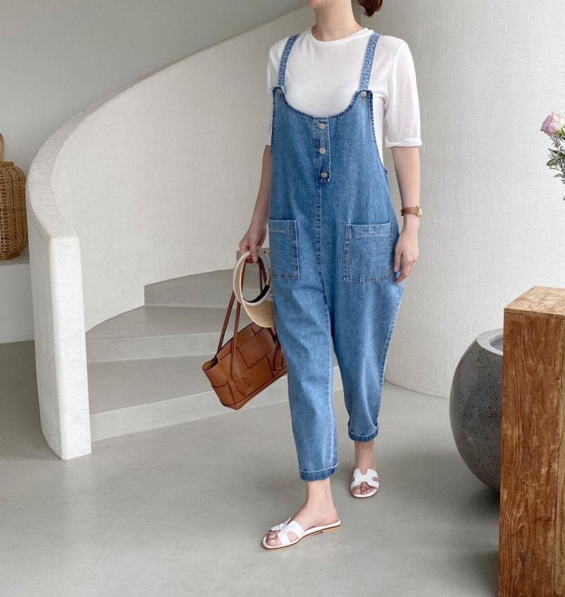 AFTERGLOW - Korean Women Fashion - #Kfashion - Roy Denim Overalls - 4