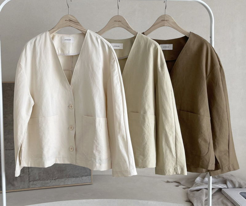 AFTERGLOW - Korean Women Fashion - #Kfashion - Page Linen Jacket