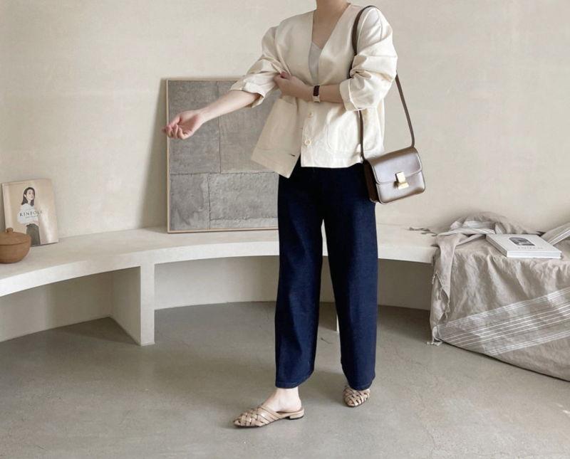 AFTERGLOW - Korean Women Fashion - #Kfashion - Page Linen Jacket - 11