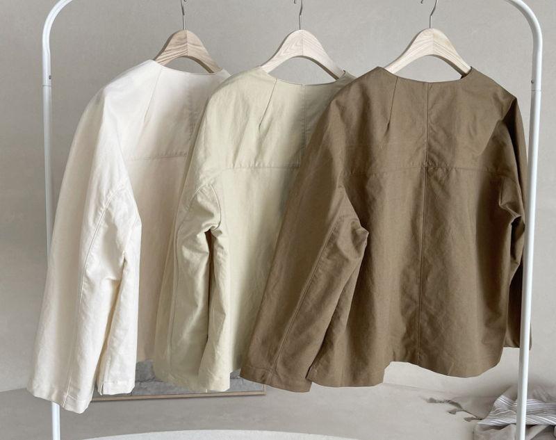 AFTERGLOW - Korean Women Fashion - #Kfashion - Page Linen Jacket - 2