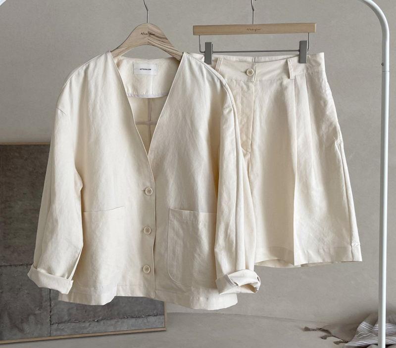 AFTERGLOW - Korean Women Fashion - #Kfashion - Page Linen Jacket - 4