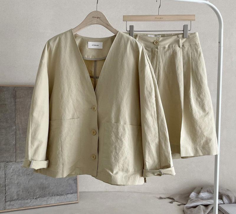 AFTERGLOW - Korean Women Fashion - #Kfashion - Page Linen Jacket - 5