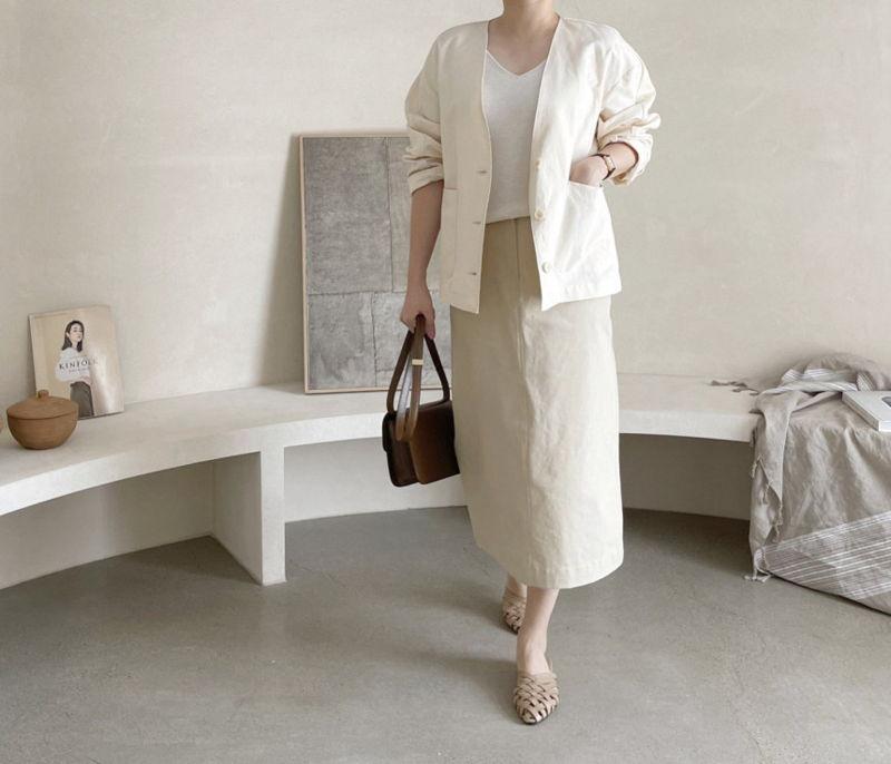AFTERGLOW - Korean Women Fashion - #Kfashion - Page Linen Jacket - 6