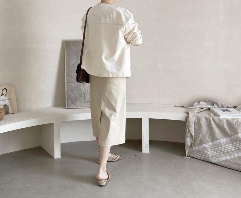 AFTERGLOW - Korean Women Fashion - #Kfashion - Page Linen Jacket - 7