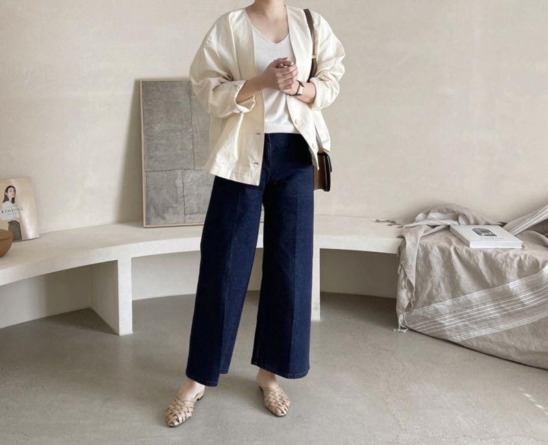 AFTERGLOW - Korean Women Fashion - #Kfashion - Page Linen Jacket - 8