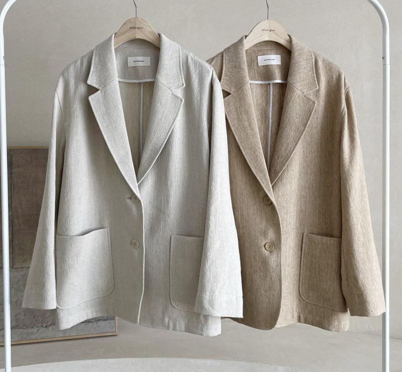 AFTERGLOW - Korean Women Fashion - #Kfashion - Ludia Linen Jacket