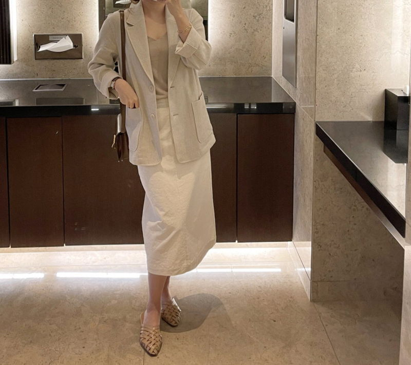 AFTERGLOW - Korean Women Fashion - #Kfashion - Ludia Linen Jacket - 10