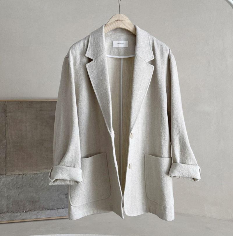 AFTERGLOW - Korean Women Fashion - #Kfashion - Ludia Linen Jacket - 2