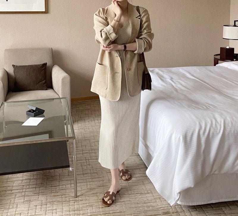 AFTERGLOW - Korean Women Fashion - #Kfashion - Ludia Linen Jacket - 6