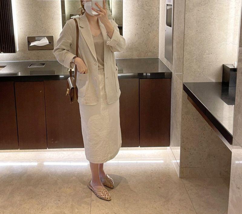 AFTERGLOW - Korean Women Fashion - #Kfashion - Ludia Linen Jacket - 9