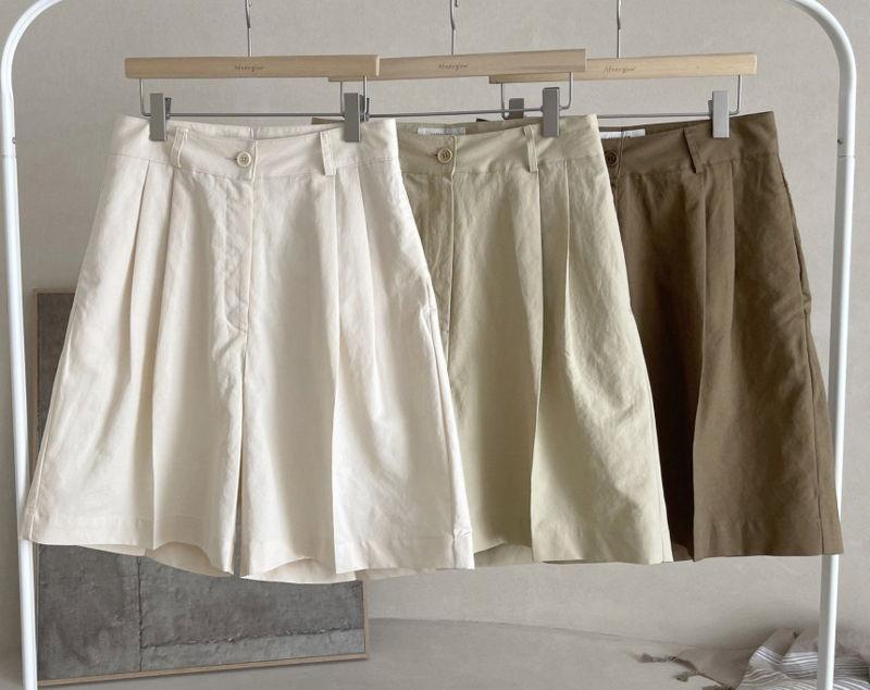 AFTERGLOW - Korean Women Fashion - #Kfashion - Page Linen Short Pants