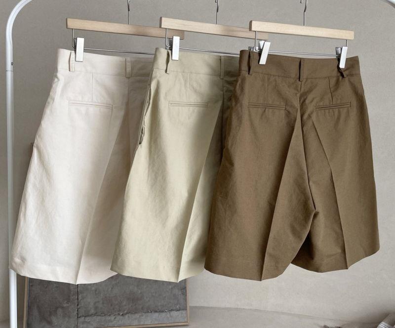 AFTERGLOW - Korean Women Fashion - #Kfashion - Page Linen Short Pants - 2
