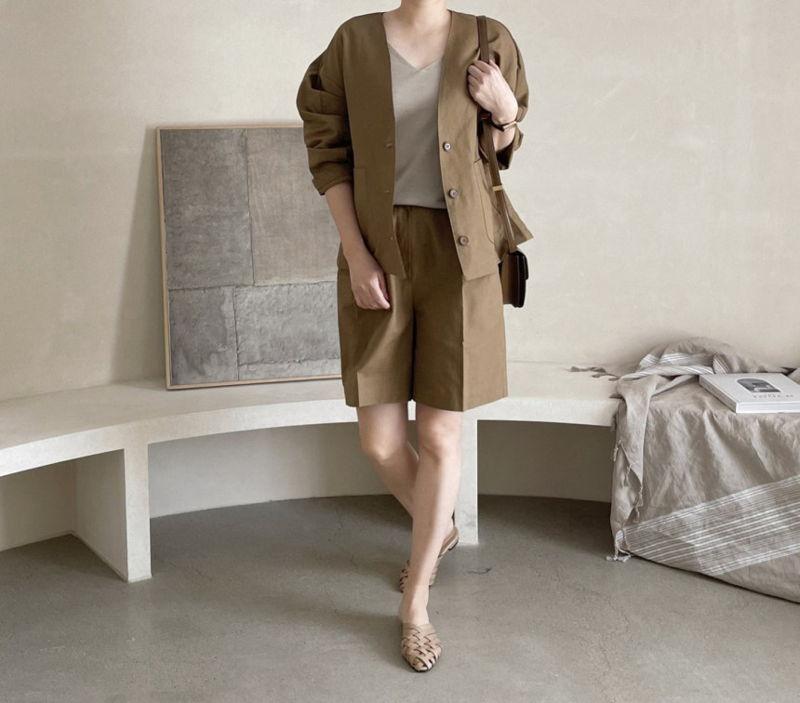 AFTERGLOW - Korean Women Fashion - #Kfashion - Page Linen Short Pants - 4