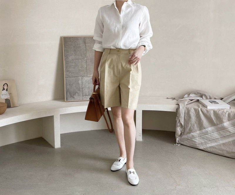 AFTERGLOW - Korean Women Fashion - #Kfashion - Page Linen Short Pants - 5