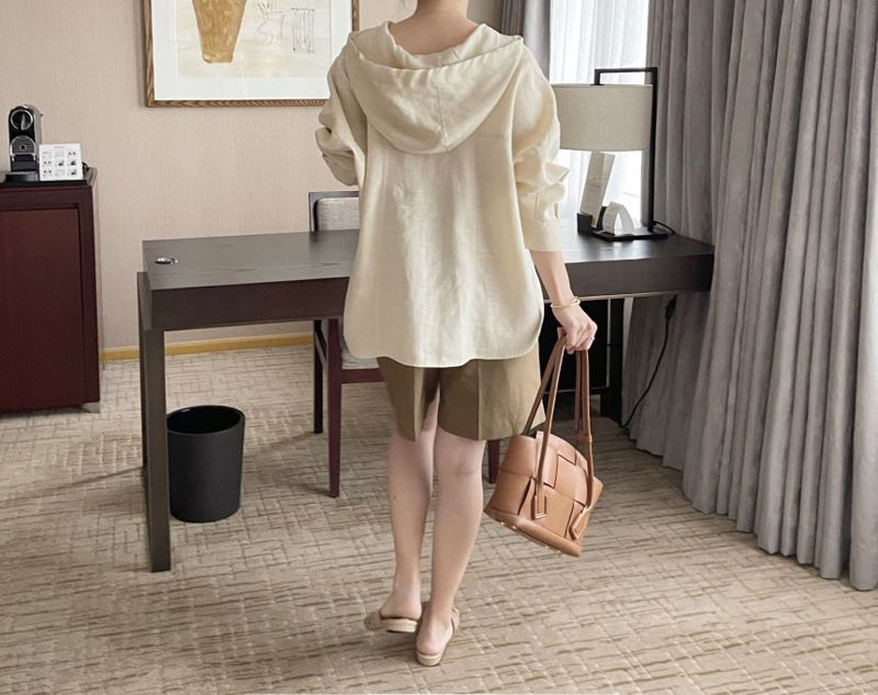 AFTERGLOW - Korean Women Fashion - #Kfashion - Page Linen Short Pants - 7