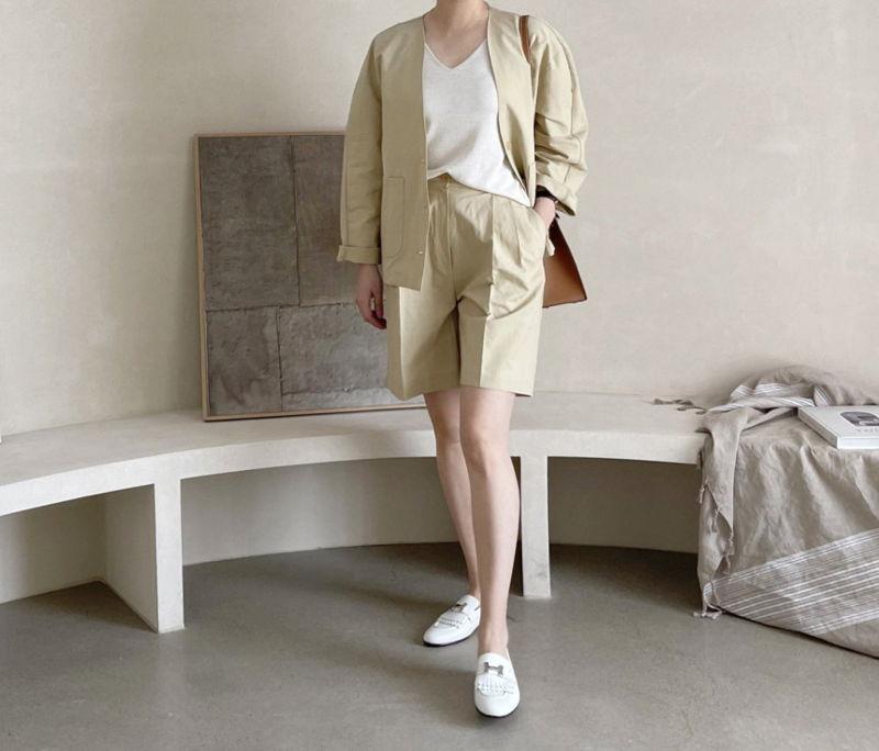 AFTERGLOW - Korean Women Fashion - #Kfashion - Page Linen Short Pants - 8