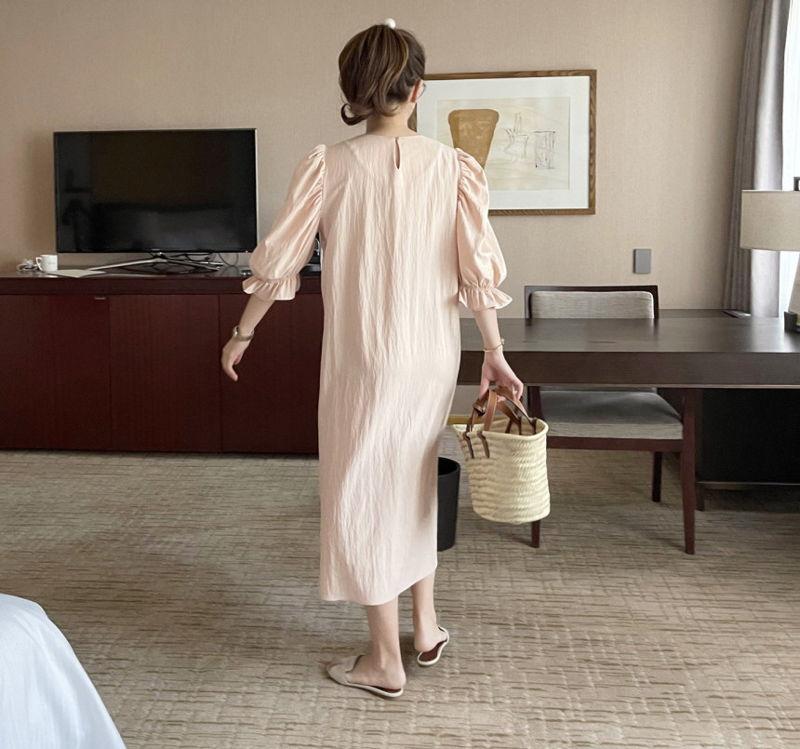 AFTERGLOW - Korean Women Fashion - #Kfashion - Sleeve Shirring One-piece - 7