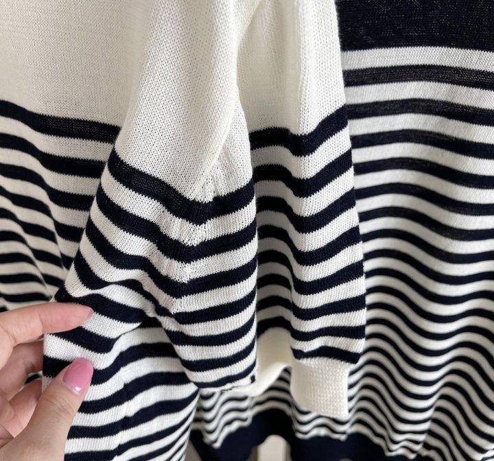 AFTERGLOW - Korean Women Fashion - #Kfashion - Simple Stripe Knit Pullover - 11