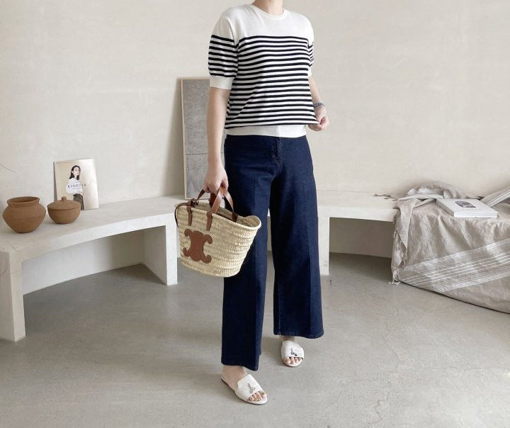 AFTERGLOW - Korean Women Fashion - #Kfashion - Simple Stripe Knit Pullover - 3