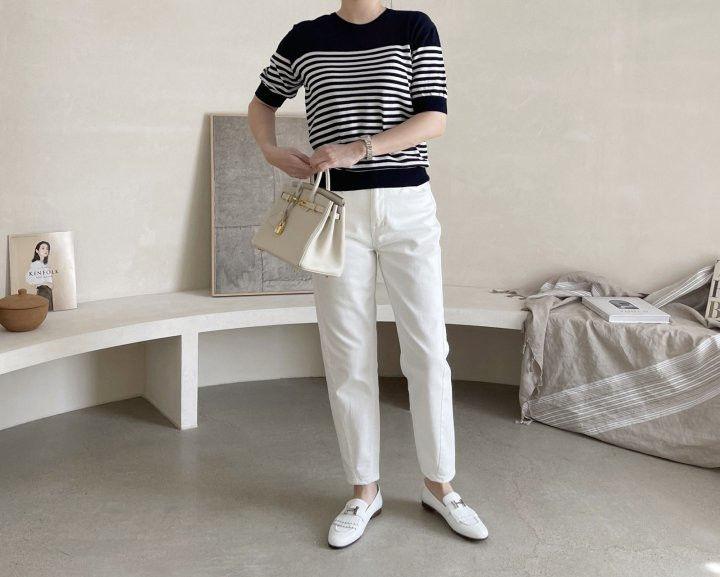 AFTERGLOW - Korean Women Fashion - #Kfashion - Simple Stripe Knit Pullover - 6
