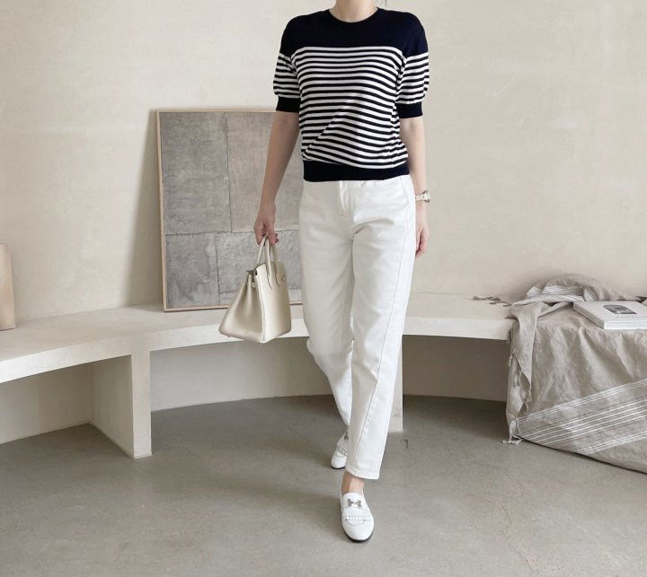 AFTERGLOW - Korean Women Fashion - #Kfashion - Simple Stripe Knit Pullover - 7