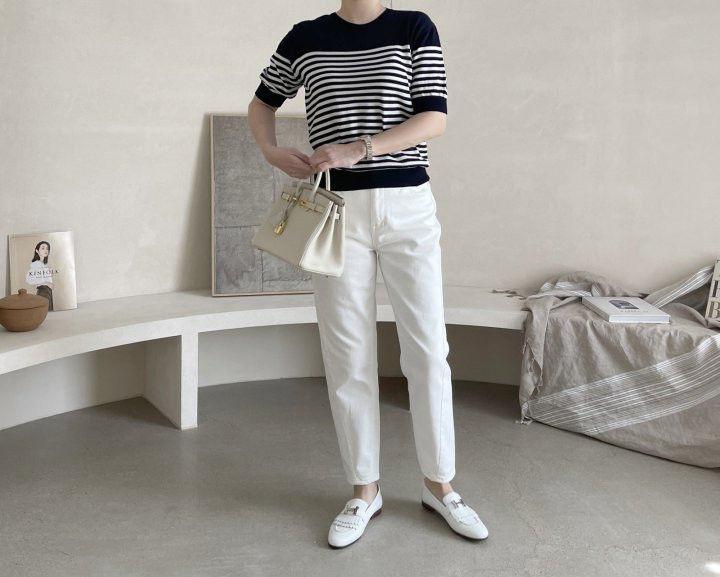 AFTERGLOW - Korean Women Fashion - #Kfashion - Simple Stripe Knit Pullover - 8