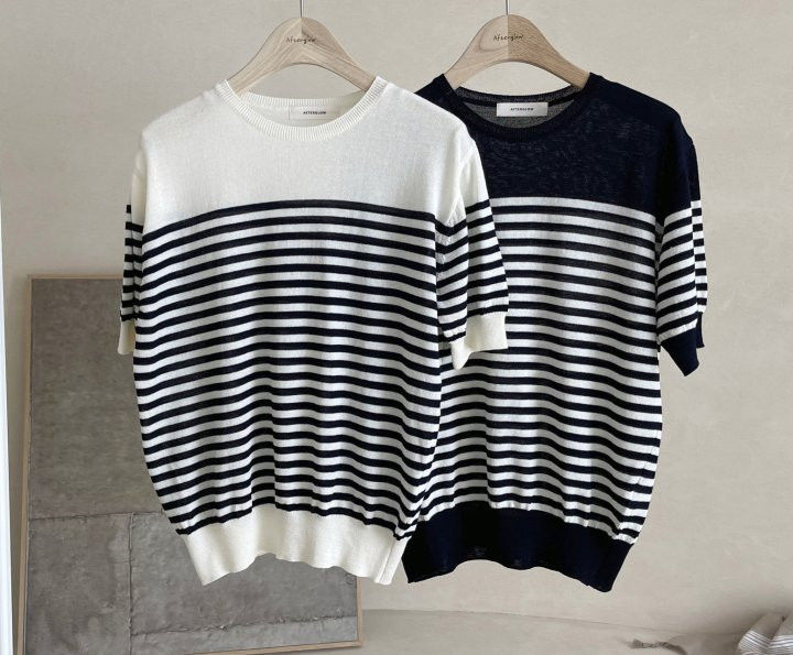 AFTERGLOW - Korean Women Fashion - #Kfashion - Simple Stripe Knit Pullover - 9