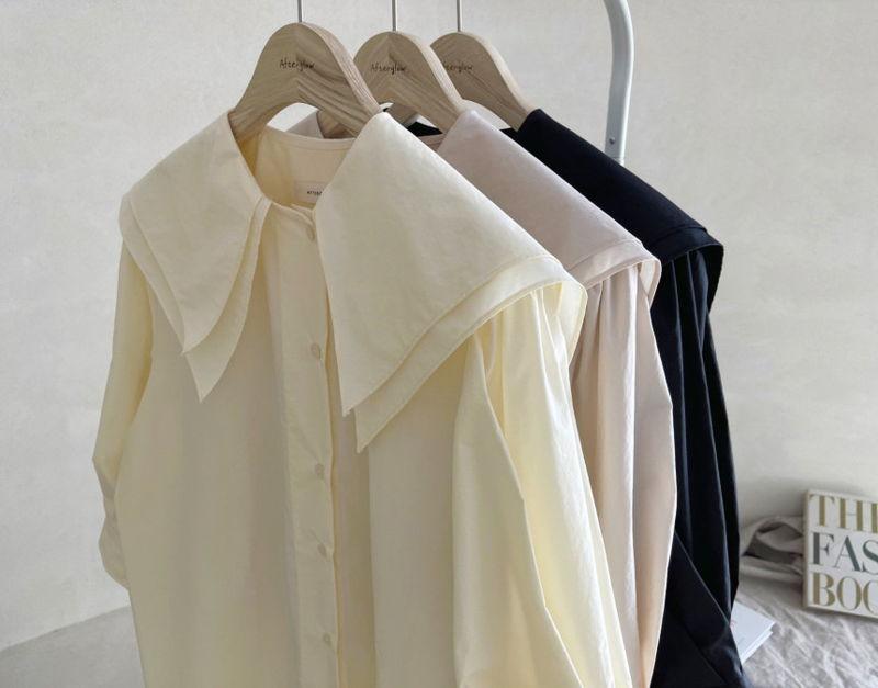 AFTERGLOW - Korean Women Fashion - #Kfashion - Sailor Collar One-piece - 2