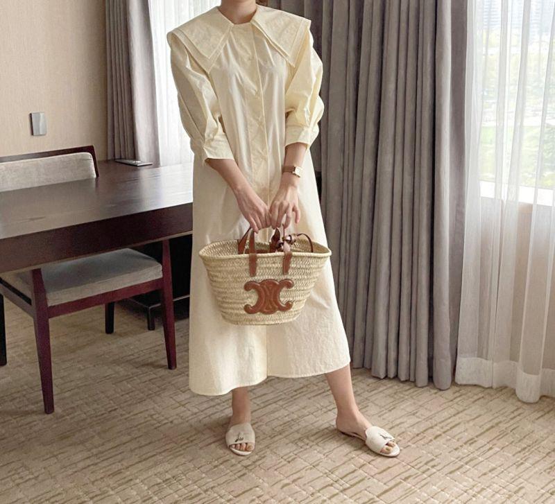 AFTERGLOW - Korean Women Fashion - #Kfashion - Sailor Collar One-piece - 4