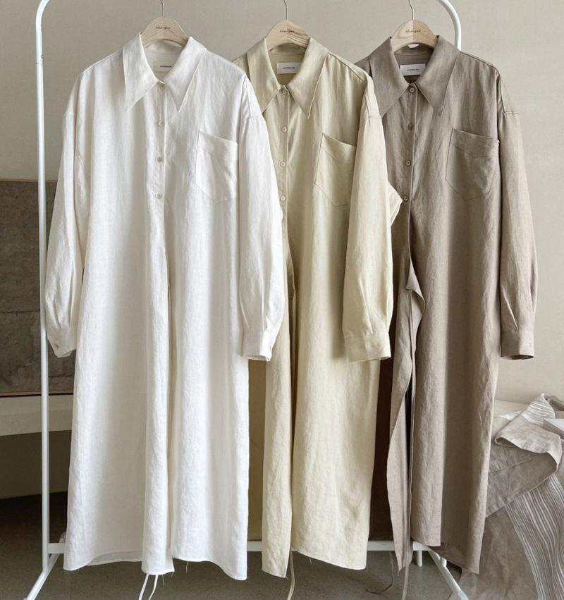 AFTERGLOW - Korean Women Fashion - #Kfashion - Lemere Linen One-piece