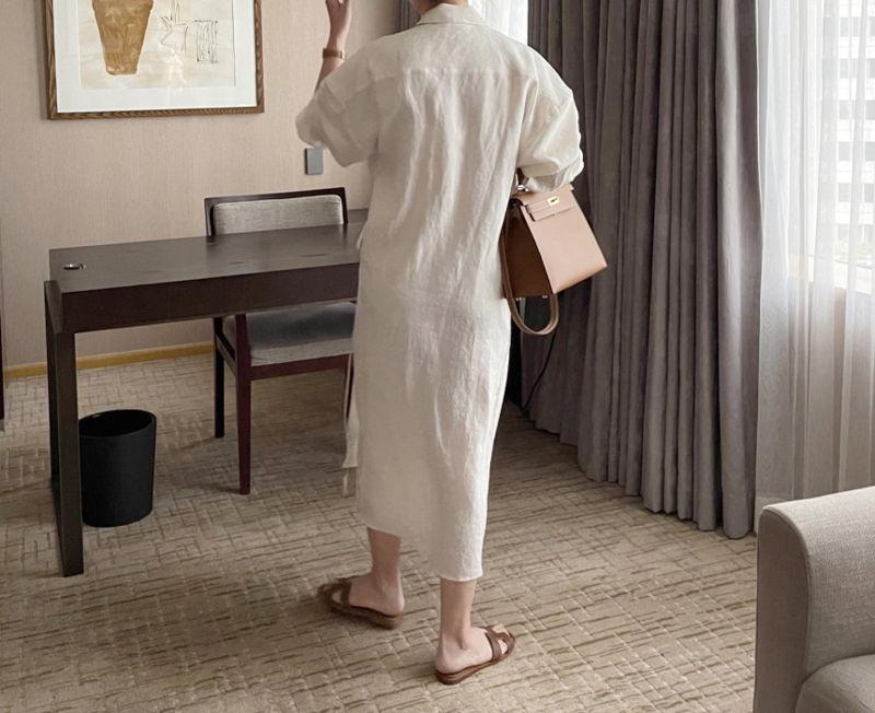 AFTERGLOW - Korean Women Fashion - #Kfashion - Lemere Linen One-piece - 4