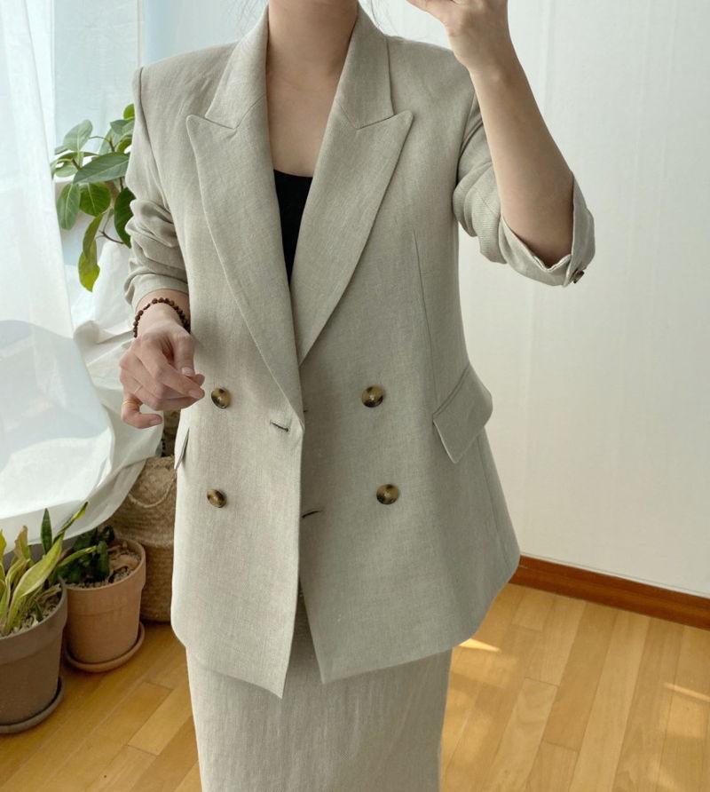 AFTERGLOW - Korean Women Fashion - #Kfashion - Dear Linen Jacket