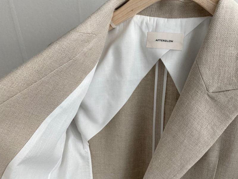 AFTERGLOW - Korean Women Fashion - #Kfashion - Dear Linen Jacket - 2