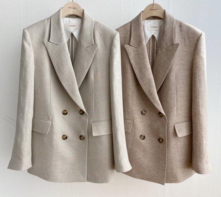 AFTERGLOW - Korean Women Fashion - #Kfashion - Dear Linen Jacket - 3
