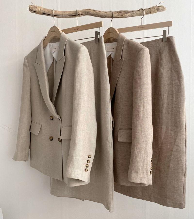 AFTERGLOW - Korean Women Fashion - #Kfashion - Dear Linen Jacket - 4