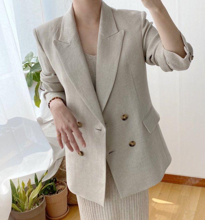 AFTERGLOW - Korean Women Fashion - #Kfashion - Dear Linen Jacket - 5
