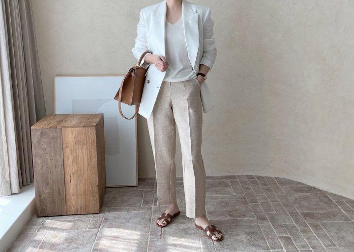 AFTERGLOW - Korean Women Fashion - #Kfashion - Dear Linen Jacket - 6