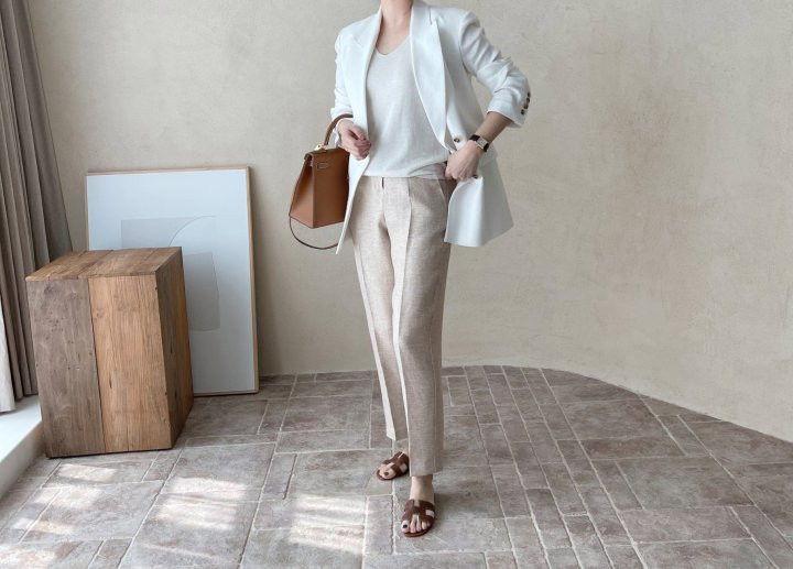 AFTERGLOW - Korean Women Fashion - #Kfashion - Dear Linen Jacket - 8