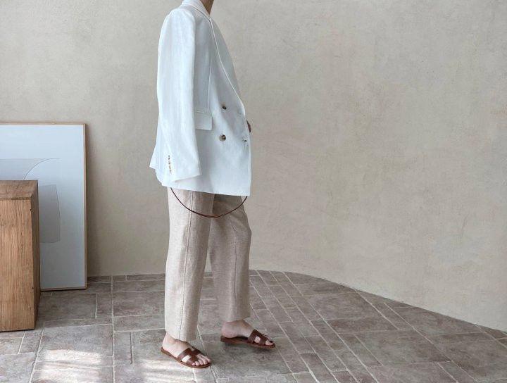 AFTERGLOW - Korean Women Fashion - #Kfashion - Dear Linen Jacket - 9