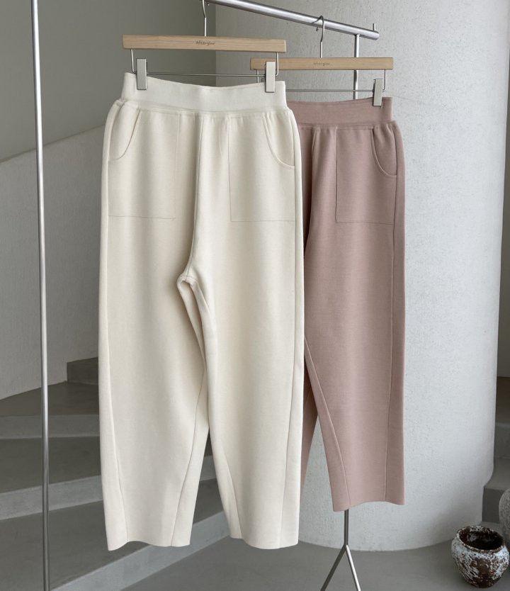 AFTERGLOW - Korean Women Fashion - #Kfashion - Slit Knit Pants